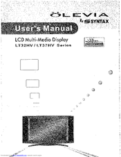 syntax olevia lt32hv user manual pdf download rh manualslib com Syntax Examples olevia syntax tv manual