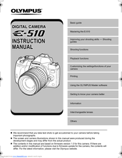 olympus evolt e 510 instruction manual pdf download rh manualslib com Olympus PEN F olympus e 510 user manual