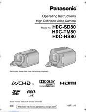 panasonic hdc tm80 operating instructions manual pdf download rh manualslib com Panasonic Manuals Servo Motors Panasonic Owner's Manual