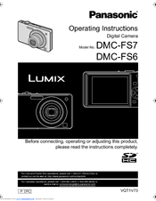 panasonic lumix dmc fs7 manuals rh manualslib com Panasonic Lumix DMC FZ30 Software 24X Panasonic Lumix DMC