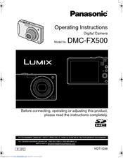 Download free pdf for panasonic lumix dmc-fx500 digital camera manual.