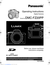 panasonic lumix dmc fz20 operating instructions manual pdf download rh manualslib com