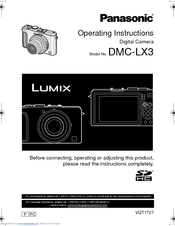 panasonic lumix dmc lx3 manuals rh manualslib com lumix dmc-lx3 manual pdf lumix dmc-lx3 mode d'emploi