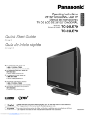 panasonic tc32le70 lcd tv manuals rh manualslib com panasonic plasma tv instruction manual panasonic viera tv instruction manual