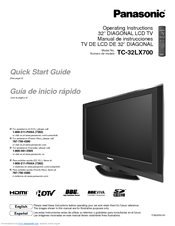 panasonic tc32lx70n 26 lcd tv manuals rh manualslib com panasonic viera tv instruction manual panasonic viera tv remote control user guide