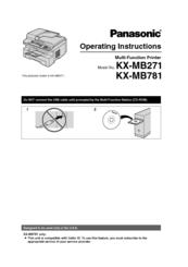 Panasonic KX-MB261E Multi-Function Station Descargar Controlador