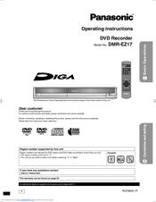 panasonic diga dmr ez17 manuals rh manualslib com
