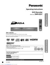 PANASONIC DMR-EZ27K DVD RECORDER WINDOWS 7 64 DRIVER
