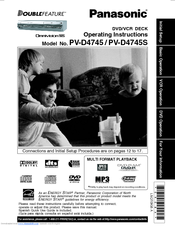 panasonic omnivision pv d4745 operating instructions manual pdf