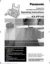 Panasonic kx fp145 user