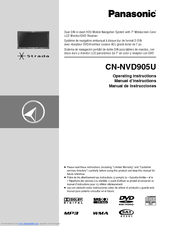 Panasonic CN-NVD905U - Strada - Navigation System Operating Instructions Manual