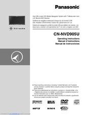 PANASONIC STRADA CN-NVD905U OPERATING INSTRUCTIONS MANUAL Pdf Download |  ManualsLibManualsLib