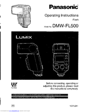 Panasonic FL500 - DMW - Hot-shoe clip-on Flash User Manual