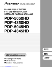Pioneer PDP-R05U Operating Instructions Manual