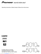 Pioneer PDP-5010FD Operating Instructions Manual