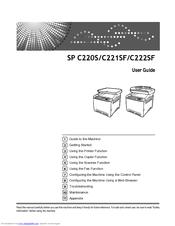 Ricoh Aficio SP C222SF Manuals