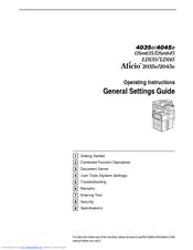ricoh aficio 2045e general settings manual pdf download rh manualslib com ricoh aficio 2045 driver windows 10 ricoh aficio 2045e pcl6 driver