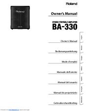 roland ba 330 manuals rh manualslib com  Roland Portable PA System