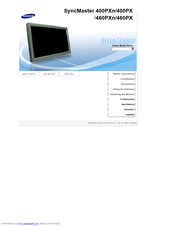 samsung 400p syncmaster lcd monitor manuals rh manualslib com Samsung TV Monitor Samsung TV Monitor