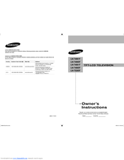 Samsung LN-T4065F Owner's Instructions Manual