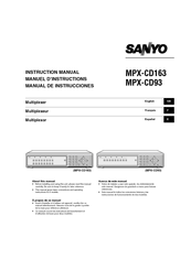 Sanyo MPX-CD163 Instruction Manual