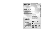 Sharp LC-26GA4U - AQUOS HDTV-Ready LCD Flat-Panel TV Operation Manual