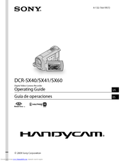 Sony DCR-SX41 Operating Manual