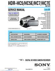 sony handycam hdr hc7 manuals rh manualslib com Sony Handycam Full HD Camcorder High-Tech Sony Camcorder 800