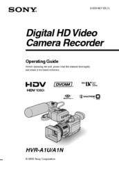 sony hvr a1u operating manual pdf download rh manualslib com sony hvr-a1u manual pdf Sony Handycam Manual