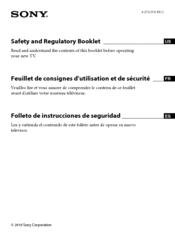 sony bravia kdl 65hx929 supplementary manual pdf download rh manualslib com 23 Inch Sony Bravia TV Sony Bravia TV Back Panel
