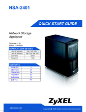 ZyXEL NSA-2401 NAS Drivers for Windows 7