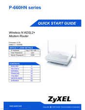 ZyXEL Communications P-660HN series Quick Start Manual