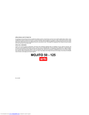 Aprilia Mojito 50//125 Custom-brochure prospect prospectus de