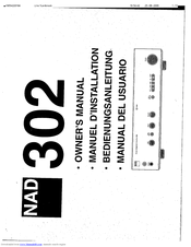nad 302 owner s manual pdf download rh manualslib com Nad C356 NAD Electronics Amplifiers
