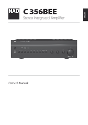 nad c356bee owner s manual pdf download rh manualslib com NAD C 356 DAC Amp Nad C356 DAC Integrated Amplifier