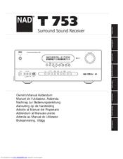 nad t753 manuals rh manualslib com Instruction Manual Owner's Manual