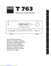 nad t763 manuals rh manualslib com nad t 763 service manual nad t763 user manual
