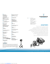 plantronics cs70n manuals rh manualslib com plantronics cs70n user manual Plantronics CS70 Setup