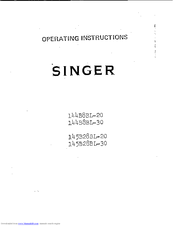 SINGER 145B28BL-20 Operating Instructions Manual