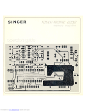 SINGER TOUCH-TRONIC 2000 Manual