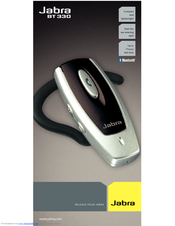 jabra bt330 manuals rh manualslib com Jabra Wireless Headset VoIP Jabra Wireless Manual