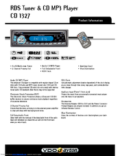 Vdo-dayton car radio manual in the nederlands dutch language.