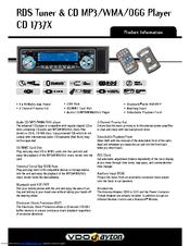 Vdo-dayton car radio manual in the english language list of.