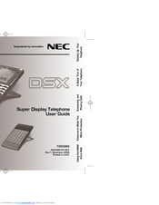 nec dsx 80 programming manuals