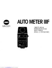 minolta auto meter iiif part 1 manual pdf download rh manualslib com minolta auto meter iiif light meter manual minolta auto meter iiif manual download