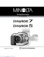 minolta dimage 7 software manuals rh manualslib com Minolta DiMAGE Digital Camera V Minolta DiMAGE 7I Accessories