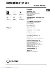 INDESIT WIXL 85 Manual
