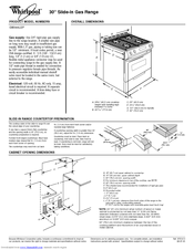 Whirlpool gold slide in gas range manual download