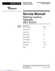 whirlpool awt 8123 d service manuals rh manualslib com Online User Guide User Guide Cover