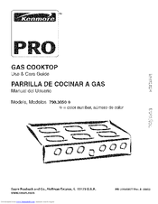 Kenmore 3050 - Pro 36 in. Gas Slide-In Cooktop Use And Care Manual